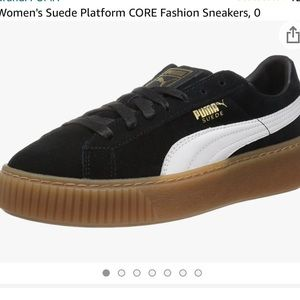 Puma Women's Core Black Suede Sneakers Size 7.5